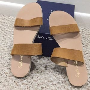 Splendid two strap tan casual sandal